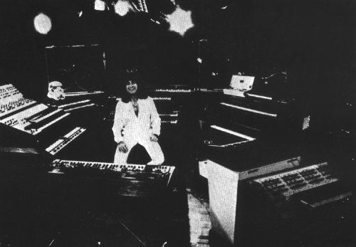 Patrick and his keyboards, from 'Future Memories, M400 & MkV both visible
