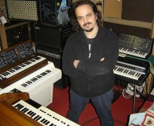 Alfio Costa with his rig, including M400